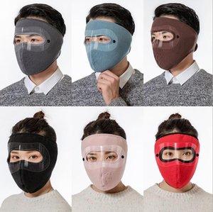Maschere visiera inverno all'aperto Protect coprire il volto Earmuffs Ciclismo bicicletta del motociclo Warm Copricapo antivento Fleece maschere LSK1903