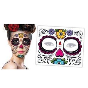 Şeker Maskesi Kostüm Geçici Kafatası Serin Dövme Tasarım Tam Yüz Parti Maskeleri Ölü 1 ADET Zombi Günü