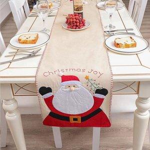 Tavola di Natale copertina in lino Babbo Natale del pupazzo di neve di Natale Tovaglia Holiday Party Tavolo da pranzo di Capodanno Decoration DDA780