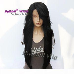 Celebridade Nicki Minaj Super Longo Solto Curl Penteado Peruca Sintética Yaki Cabelo Perucas dianteiras para a Senhora Natural