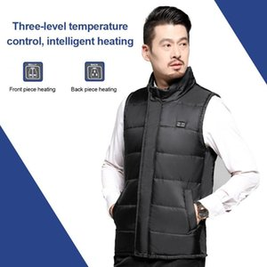 Men USB Electric Heated Vest 6 Areas Dual-switch Heating Jacket Safety For Fishing Skiing Motorcycle Winter Warm Coat Clothing