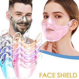 Glasses Faceshield Transparent Anti-Fog Anti-Splash Layer Protect Eyes Face Mask With Glasses Holder Colorful Safety Face Shield GGA3797
