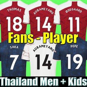 Fanlar oyuncu sürümü Arsen Futbol Forması 20 21 Odegaard Pepe Saka Nicolas Tierney Henry Willian Maitland-Niles 2020 2021 Futbol Gömlek Çocuklar