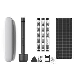 Für Wowstick 1F PRO Mini Elektrischer Schraubendreher wiederaufladbarer kabelloser Stromschraube Treiber Kit LED-Light Lithium-Batteriebetrieb y200321