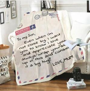 Coral in pile coperta a mia figlia lettera stampata trapunte dad papà mamma marito coperte incoraggiano e love coperta 6 taglie LJJP719