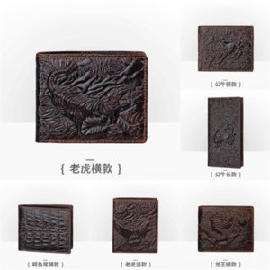 rOO Genuine Leather Wallet Men Famous Wallets Coin Purse Brand Leather With samsung s8 plus wallet case Pocket Coin
