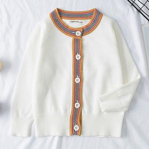 Crianças Knit Cardigan Primavera Outono malha suéter bebê crianças Vestuário Meninos Meninas Camisolas Kids Wear Baby Boy Roupas CmHx #