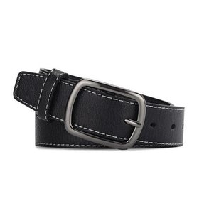 Hi-kravat erkek kemer yüksek kaliteli inek derisi deri kayış kemerleri erkekler için kovboy rahat moda classice vintage pin toka kemer