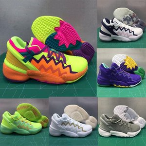 D.O.N. Issue #2 Spidey Sense Glory Green Basketball Shoes Issue 2 High Quality Donovan Mitchell PE Sneakers sports trainers 7-12