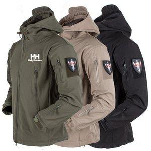 Hansen- Militar Windproof Tactical Softshell Homens Waterproof Brasão Exército Soft Shell Windbreaker Helly chuva Caminhadas Jacket