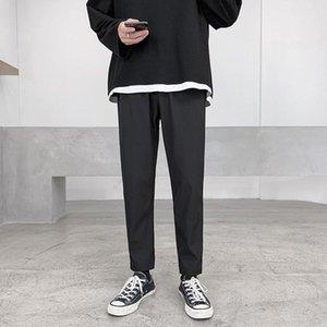 2020 Automne et Hiver Nouvelle jeunesse populaire Pure Color Drapé Slim Straight Leg Pants Mode Tout-match Casual pantacourt