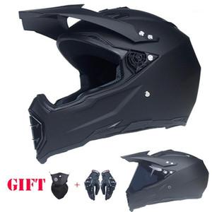 Casco de motocicleta de motocicleta de la cara completa de alta calidad ATV Moto Cross Down-Will Off-Road Dot Capacete1