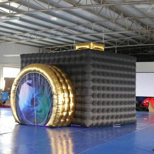 Hochwertige airblower Cube LED Photobooth Inflatable Platz Photo Booth mit bunten für Foto geführt