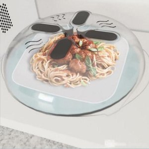 30*8.5cm Microwave Splatter Lid Food Splatter Guard Cover Microwave Hover Anti-Sputtering Cover With Steam Vents In Stock