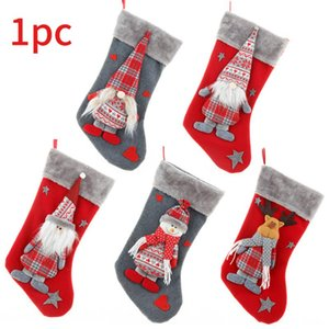 DIY Home Fireplace Decor Large Capacity Gift Packaging Photography Props Print Christmas Stockings 3D Multifunction Candy Pouch