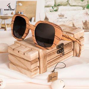 Erkekler Gözlük Ahşap Güneş Kadın Feminino UV400 Kuş Gözlük Polarize Güneş Gözlüğü Retro Bobo Kız Arkadaşı Hediye Için Great XSRNB