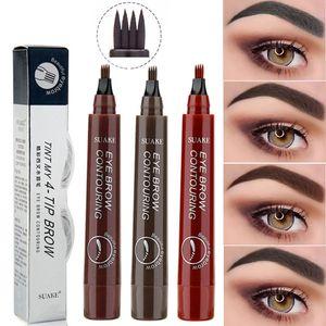 3D Microblading Eyebrow Pen Waterproof Fork Tip Eyebrow Tattoo Pencil Long Lasting Professional Fine Sketch Liquid Eye Brow Pen