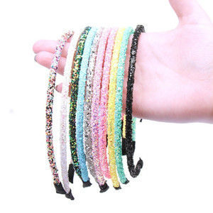 DHL Bling fashion Headband Women Beads Bezel Hair hoop Korea Hairband Girls Bride Wedding Hair Accessories 11 colors