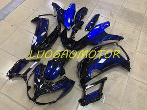 ABS Injection Moto Flamcycle Flame Bleu et Black Frélaçons pour Kawasaki ER-6F Ninja 650R 2012 2013 2014 2015 2015 COODLING