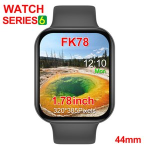 FK78 Smart Watch Series 6 1to1 44mm 1.75inch HD Screen Bluetooth Call Music Smartwatch Siri Voice Control Sport Bracelet For Android IOS