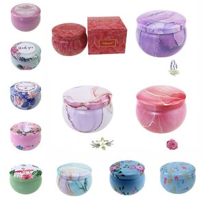 Scented candle jars empty round tinplate can DIY handmade candles tea food candy tablet accessories storage box with lid