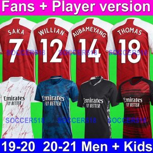THOMAS PARTEY AUBAMEYANG Arsenal 2020 2021 fãs + versão jogador ÖZIL OZIL LACAZETTE PEPE NKETIAH MARTINELLI XHAKA Masculino + camisas de futebol infantil