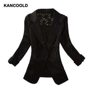 Women Blazer elegant slim fit Tops Long Sleeve Ladies Jacket Office Wear single button Coat lace hollow out d90828