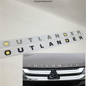 Dekorasi Mobil Untuk Mitsubishi Outlander Kap Depan Grill Emblem Topi Logo Huruf Simbol Lencana Decal