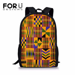 FORUDESIGNS Bags for Kids African Tradtional Printing Primary School Bag Children Shoulder Bagpack Girls Satchel Q1109