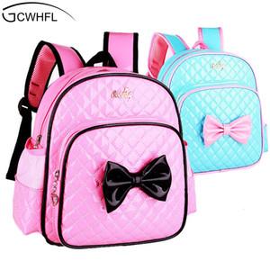 2-7 anni bambini dell'asilo Schoolbag Princess Pink Ragazze Cartoon Sacchetti di scuola dei bambini Satchel zaino del bambino Q1109