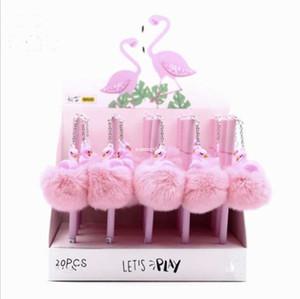 Pembe Flamingo Jel Kalem Güzel Peluş Swan Unicorn Domuz Kalemler Okul Yazma Kız Hediyeler Kawaii Nötr Kalemler Okul Malzemeleri Kırtasiye A5695
