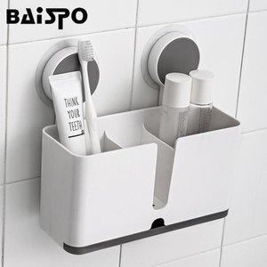 Baispo Multi-function Bagno Shelf Shelf A Wall-Mount Velcel Shelf Shelf Dentifricio Spazzolino rack Shaver Rack Accessori da bagno Accessori da bagno1