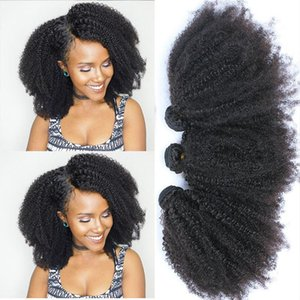 Mongolian Afro Kinky Curly Bundles Human Hair Bundles With Closure 100% Human Hair Weave Extensions 4B 4C Virgin Hair EverBeauty.#koi