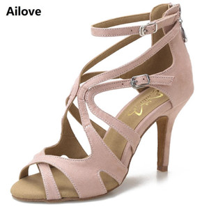 Ailove Ballroom Salsa Latin Swing Dance Shoes Women Wedding Party Sandals Rubber Sole and Suede Sole Available Heels ALS005 201017