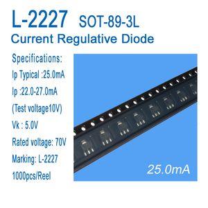 CRD, el diodo regulador L-2227 SOT-89-3L de aplicación a la lámpara fluorescente del LED, la luz de bulbo LED, LED productos pequeña de energía de corriente