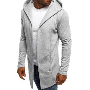 ZOGAA Mens Hooded Sweatshirt Men's Solid Long Cardigan Hoodies Streetwear Men Casual Autumn Slim Fit Jacket Coat Male Clothing 201019