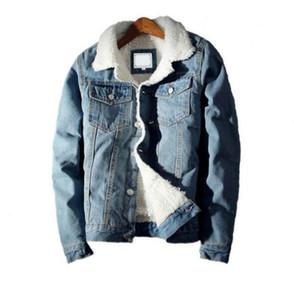 2021 Men Winter Denim Jacket Coat Windbreaker Coats Bomber Jacket Warm Thick Jean Outwear Fashion Cowboy Jacket Man Clothes Plus Size S-5XL
