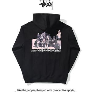 HOT Stussy свитер с капюшоном Mens American High End Luxury Designer Hoodie Мода Хип-хоп-стрит Одежда Классические письма Мужские футболки
