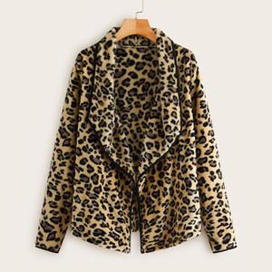 abrigos de mujer Invierno 2020 mujeres abrigo de invierno leopardo felpa floja irregular capa de lana de cuello de la chaqueta chaqueta de mujer Ropa