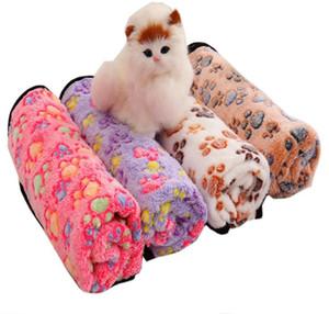 Paw Print Pet Blanket Puppy Blanket Pet Sleep Pad Mat Winter Warm Soft Coral Fleece Dog Cat Sleep Throw Blankets Pets Supplies SN3432