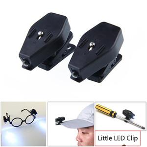 Mini LED Night Light flessibile flessibile clip di rotazione a 360 gradi su cappello tappo di occhiali strumenti a lezione lettura luci di lettura GWD4791
