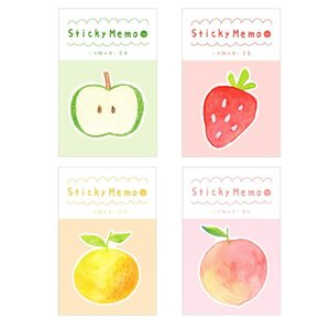 4 Pcs Yummy Fruit Sticky Memo Pads Apple Orange Post Note Planner Stickers Marker It Tag Stationery Office School Fm636 sqcoYu homecart