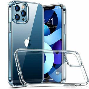 Caso TPU CRISTALINO Ultra Slim macia capa para o iPhone 12/11 Pro Max Mini tampa transparente completa
