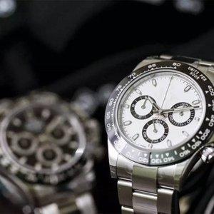 Top qualité Hommes 40mm Montre quartz automatique montres bracelet en acier Lunette Céramique Saphir 116500 116520 daytonaCosmograph Dive v2RM #