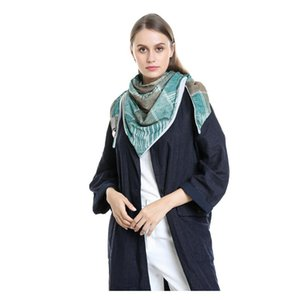 Luxury-Women Warm Scarves Printing Soft Wrap Casual Shawls 2020 Women Malaysia Cotton Thermal Scarf Chaqueta Pelo Scarves Hot#50