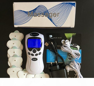 TENS EMS UNIT 듀얼 채널 출력 통증 신경 근육 전기 자극기 디지털 치료 마사지 Physiotherapywith 상자