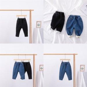 CNXJA KIDS Baby Girl Fashion Casual Denim Pantalon Ajouter Velvet Gardez chaud Velvet Big Pockets Épaissement Enfant Jeans Courtes Jeans Jean Pants Enfo