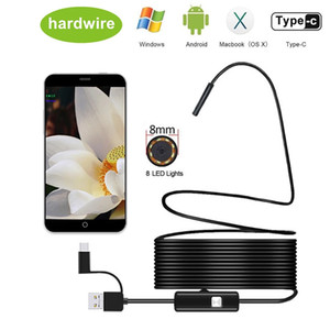 8mm Endoscope Camera 1080P HD USB Endoscope with 8 LED 1 2 5 10M Flexible Cable Waterproof Inspection Borescope for Android PC