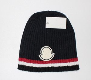 جديد فرنسا أزياء الرجال مصممين القبعات بونيه الشتاء قبعة محبوك الصوف قبعة زائد المخملية قبعة skullies سمكا قناع هامش بيني القبعات manv