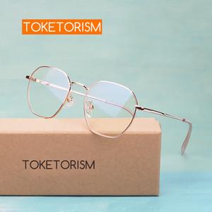Toketorism модный женский очковый металлический каркас близорукость рецепт очки кадров 6023 1006